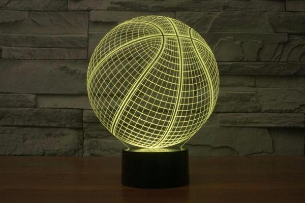 2019 Newest LED Blub Lamp 3D Optical Basketball Shape ...