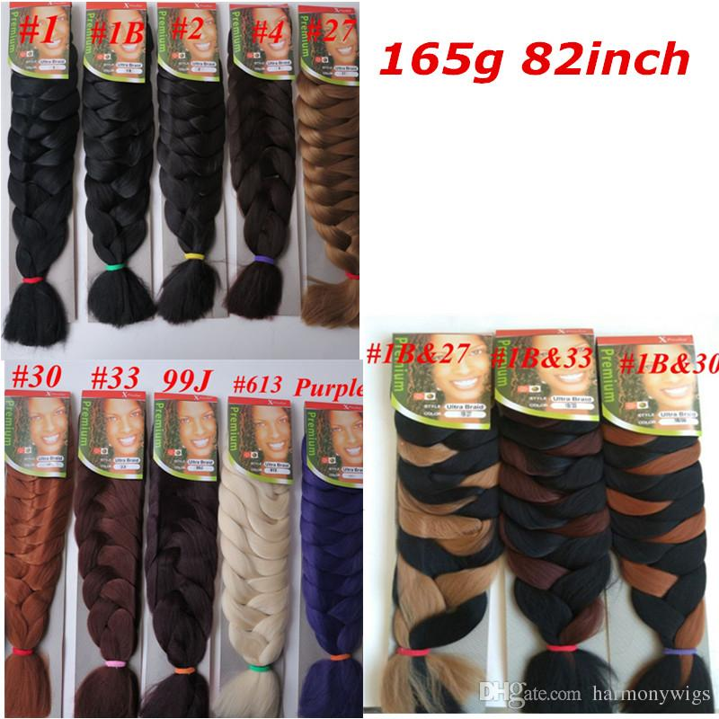 Wholesale Xpression Synthetic Braiding Hair 82inch