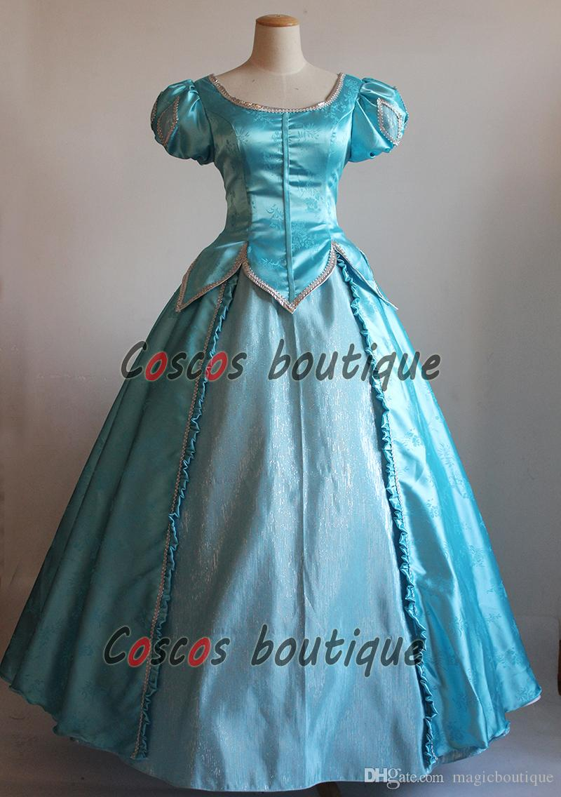 The Little Mermaid Princess Ariel dress blue Adult girl Fancy Dress ...