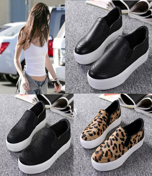 100  Real Photos Genuine Leather Ash Jungle Slip On Fashion Sneakers     100  Real Photos Genuine Leather Ash Jungle Slip On Fashion Sneakers Ash  Trainers Casual Flat Heel Platform Women Shoes Size 34 40 Fashion Shoes  Shoes For