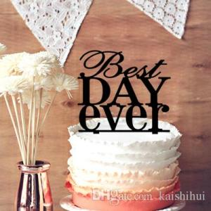 2018 Rustic Wedding Cake Topper  Engagement Party Cake Topper  Best     2018 Rustic Wedding Cake Topper  Engagement Party Cake Topper  Best Day  Ever Wedding Cake Toppers Anniversary Cupcake Stand From Kaishihui   15 1    Dhgate