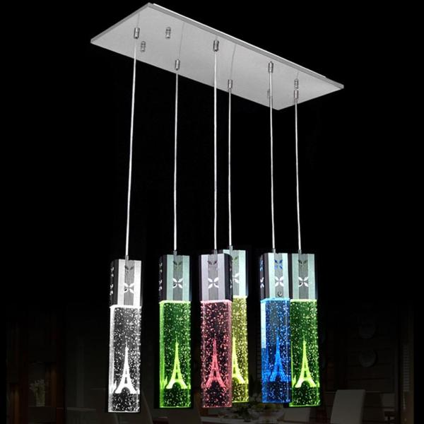 Modern Led Oblong Crystal Tube Dining Room Ceiling Pendant Lights     Modern Led Oblong Crystal Tube Dining Room Ceiling Pendant Lights  Restaurant Bar Counter Pendant Light Balcony Hallway Chandelier Fixtures  Industrial