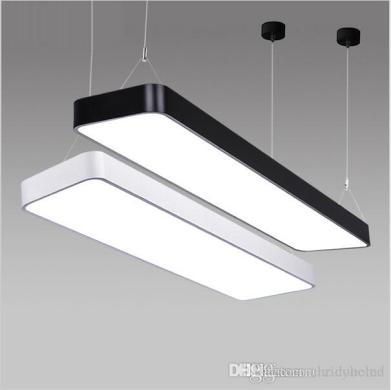 Super Bright Lx220 Study Office Modern Led Ceiling Pendant Lamp     Super Bright Lx220 Study Office Modern Led Ceiling Pendant Lamp Rectangle  Suspended Pendant Light Fixtures Home White Light Contemporary Ceiling  Lights