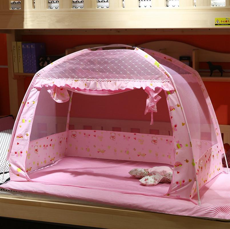 Wholesale Pink Blue Summer Baby Bed Mosquito Net Folding