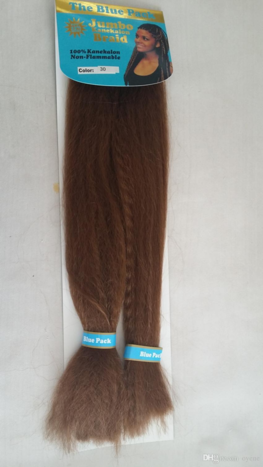 2019 Jumbo Braid Kanekalon Hair Made The Blue Pack 50inch