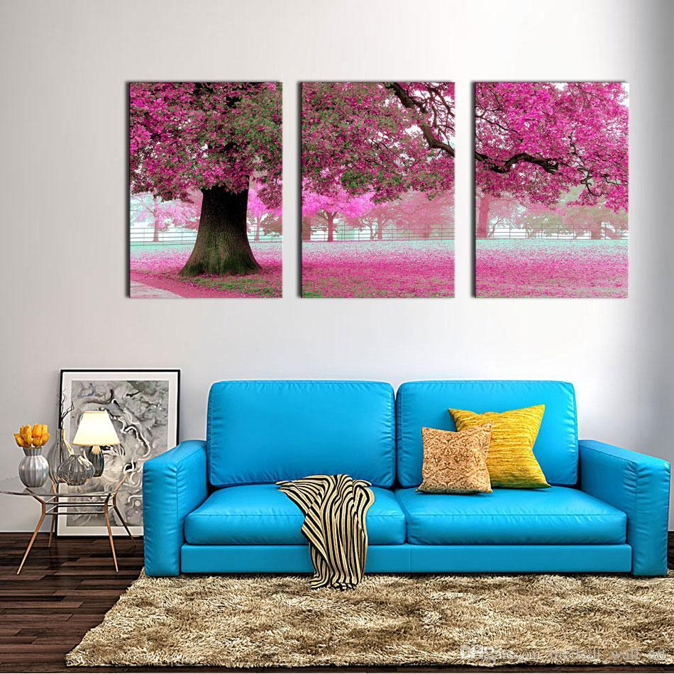 2019 Canvas Print Wall Art Painting For Home Decor Purple ... on Wall Decoration Ideas At Home  id=53113