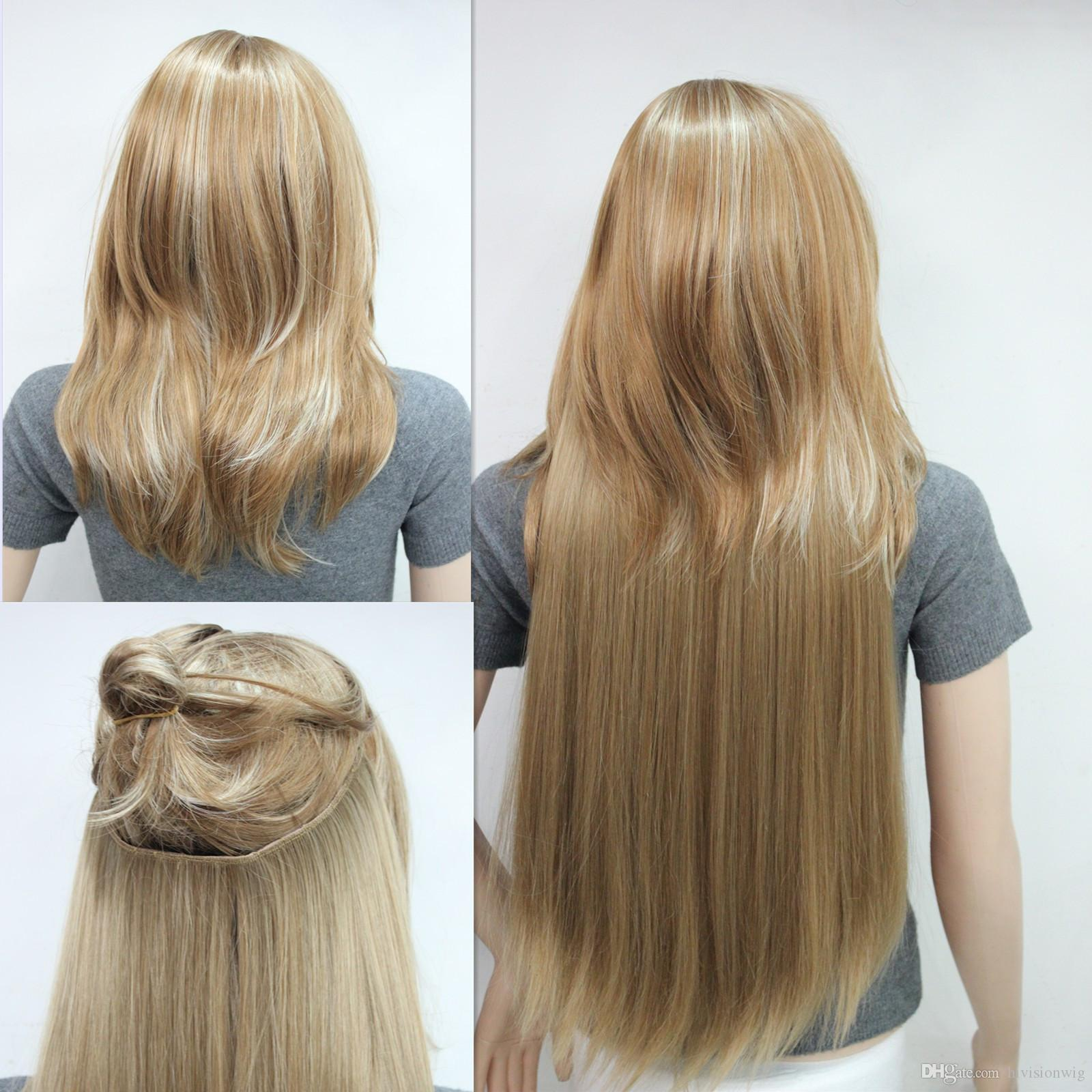 New Invisible Wire Fish Line Clip In Hair Extensions