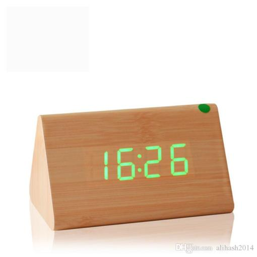 Best Decorative Table Clocks Control Sensing Alarm Temp Dual Display     Best Decorative Table Clocks Control Sensing Alarm Temp Dual Display  Electronic Led Clock Vintage Wooden Digital Alarm Clock Under  21 6    Dhgate Com