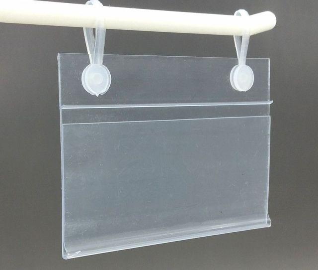 Several Sizes Pvc Plastic Price Tag Sign Label Display Holder With  Buckles For Supermarket Shelf Stand Hook Rack Price Label Holder Price Tag Holder Hook