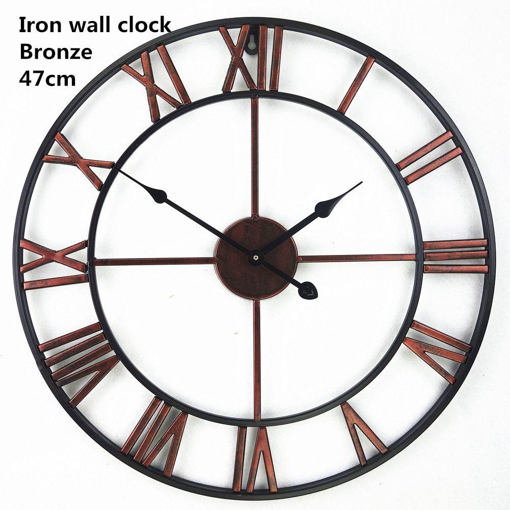 acheter horloge murale decorative vintage en fer forge 3d surdimensionne de 86 77 du sophine11 dhgate com