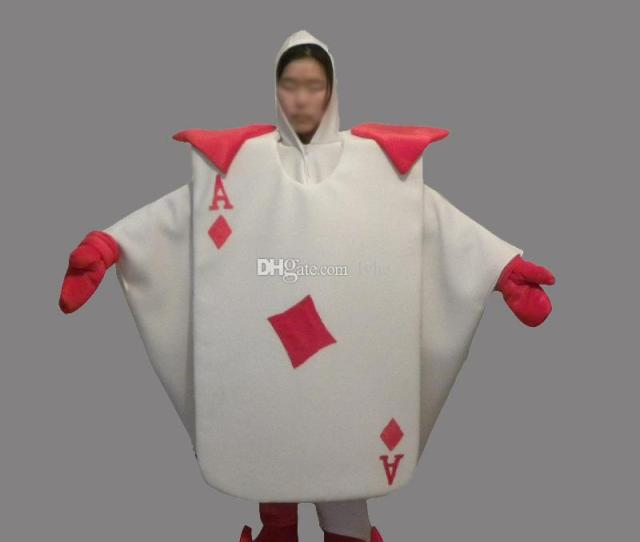 Poker Playing Cards Adult Size Mascot Costume Fancy Birthday Party Dress Halloween Carnivals Costumes With High Quality Canada  From Lvhe