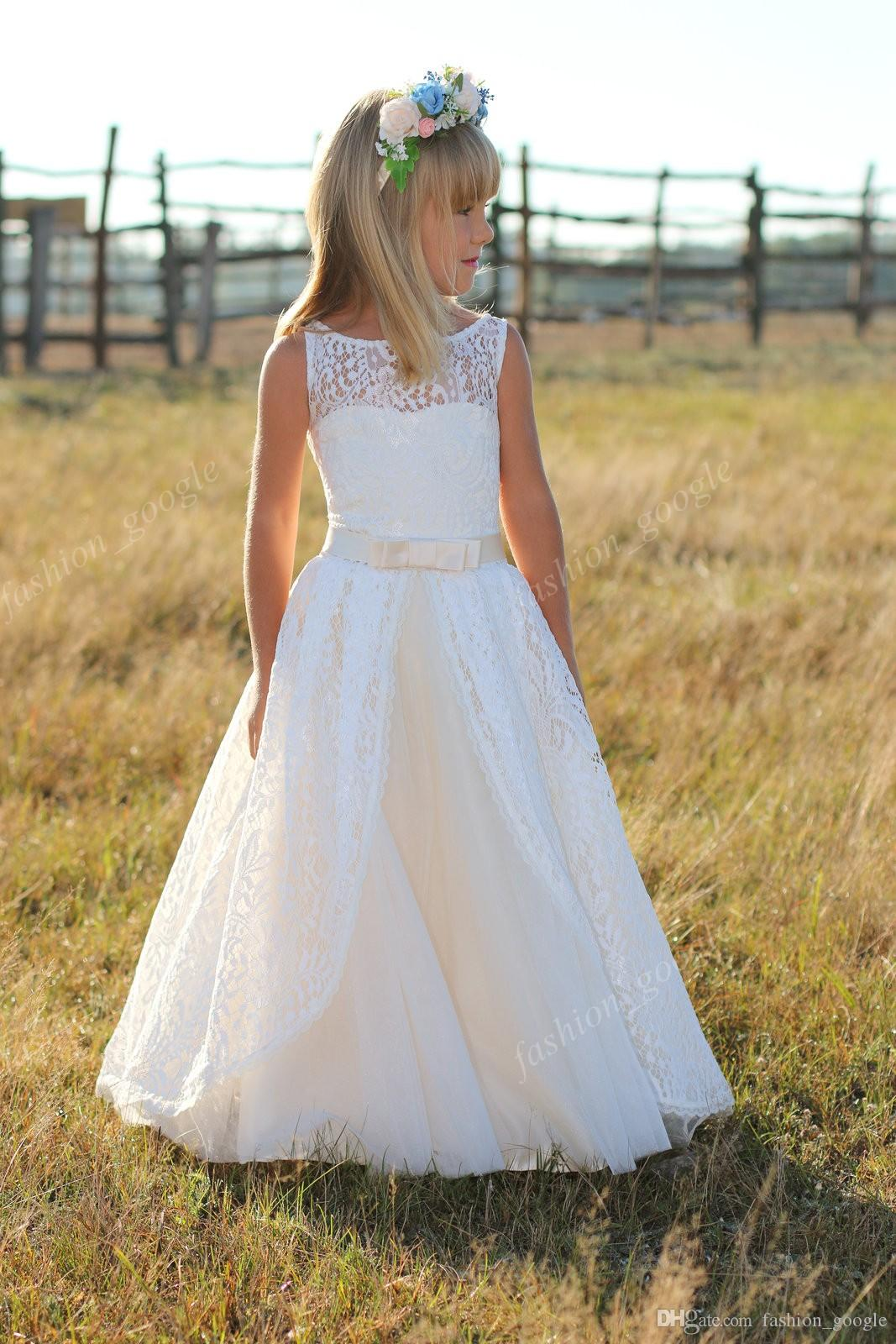 Lace Flower Girl Dresses Louise Bridal For Country