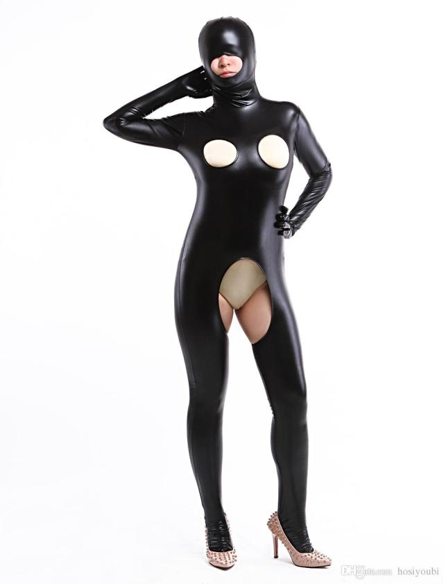 2019 Spandex Shiny Metallic Sexy Woman Zentai Suit Costumes Bodysuit Halloween Costumes From Hosiyoubi 31 07 Dhgate Com