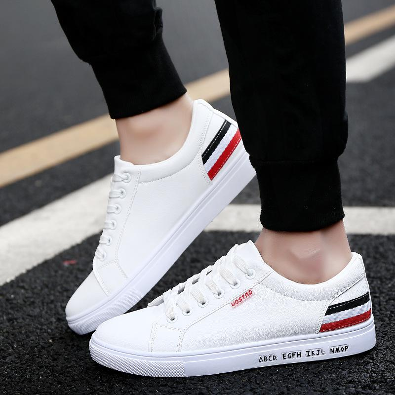 2017 Men s Casual Shoes Trend Korea Spring Student Shoe Fashion     2017 Men s Casual Shoes Trend Korea Spring Student Shoe Fashion Shoes for  Men Pu Black Flat Breather Waterproof Pu Men Shoes Men Shoes Flat Shoes  Casual