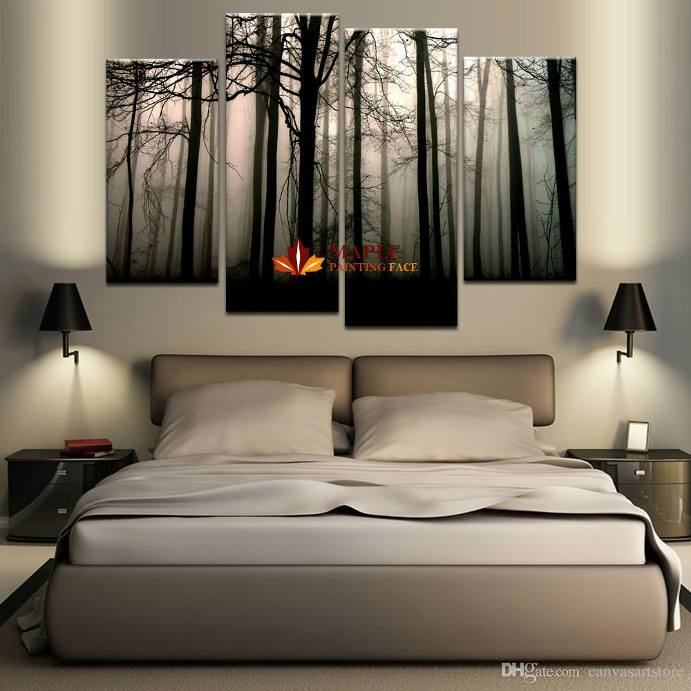 2019 4 Panel Large Canvas Art Modern Abstract HD Canvas Print Home Decor Wall Art Painting