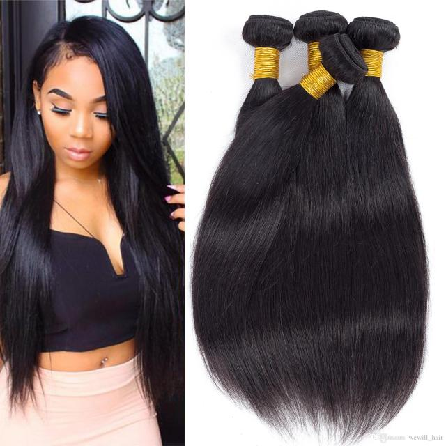 brazilian straight hair weave bundles peruvian virgin remy human hair extensions unprocessed hair weft mix order 8-26 inch natural color