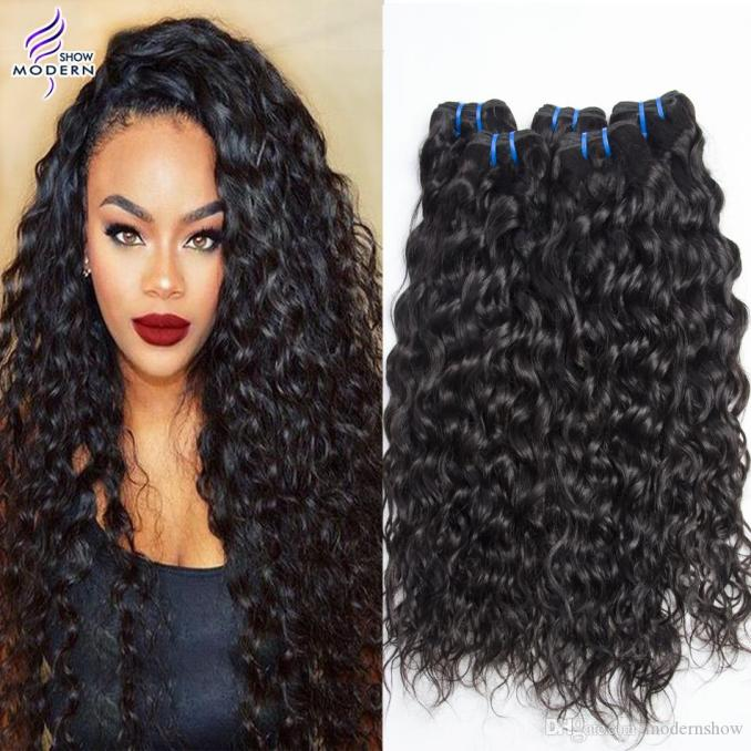 brazilian water wave virgin hair wefts wet and wavy brazilian human hair bundles 3 bundles brazilian curly weave human hair weaves