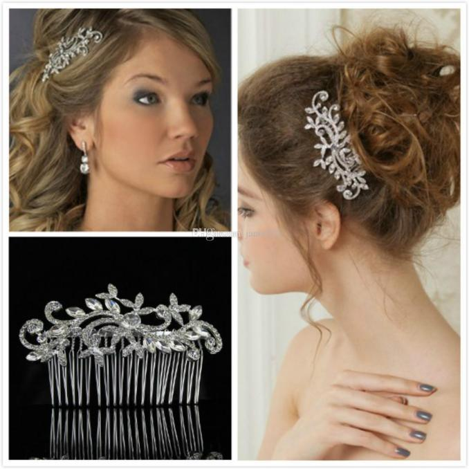 elegant wedding hair comb classic bridal hair accessories silver plated head pieces party women head decoration