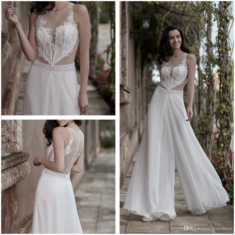 896c576aa8d Ines Di Santo Corded Lace Jumpsuit Wedding Dresses Beaded