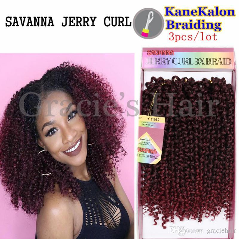 2017 2017 New Hairstyles Kanekalon Braid Jerry Curl Braids