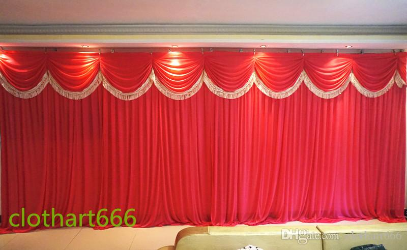 2018 3m6m Backdrop Wedding Backcloth With Swags Party