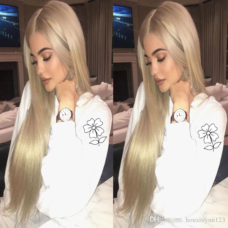 Kylie Jenner Blonde Synthetic Lace Front Wig High Quality