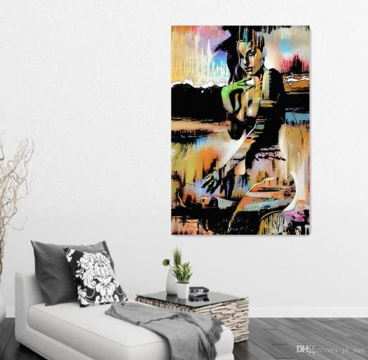 2017 Vintage Home Decor Canvas Art Abstract Y Girls Oil Painting Back Of Figure For Living Room Bedroom Wall Paintings From