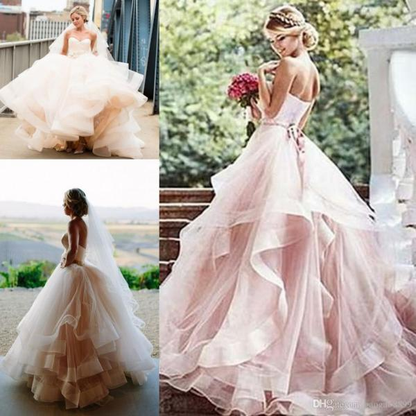 Vintage Soft 1920s Inspired Blush Wedding Dresses 2017 Romantic     Vintage Soft 1920s Inspired Blush Wedding Dresses 2017 Romantic Layered  Tulle Sweetheart Elegant Princess Country Bridal Wedding Gowns 2016 Wedding  Dress