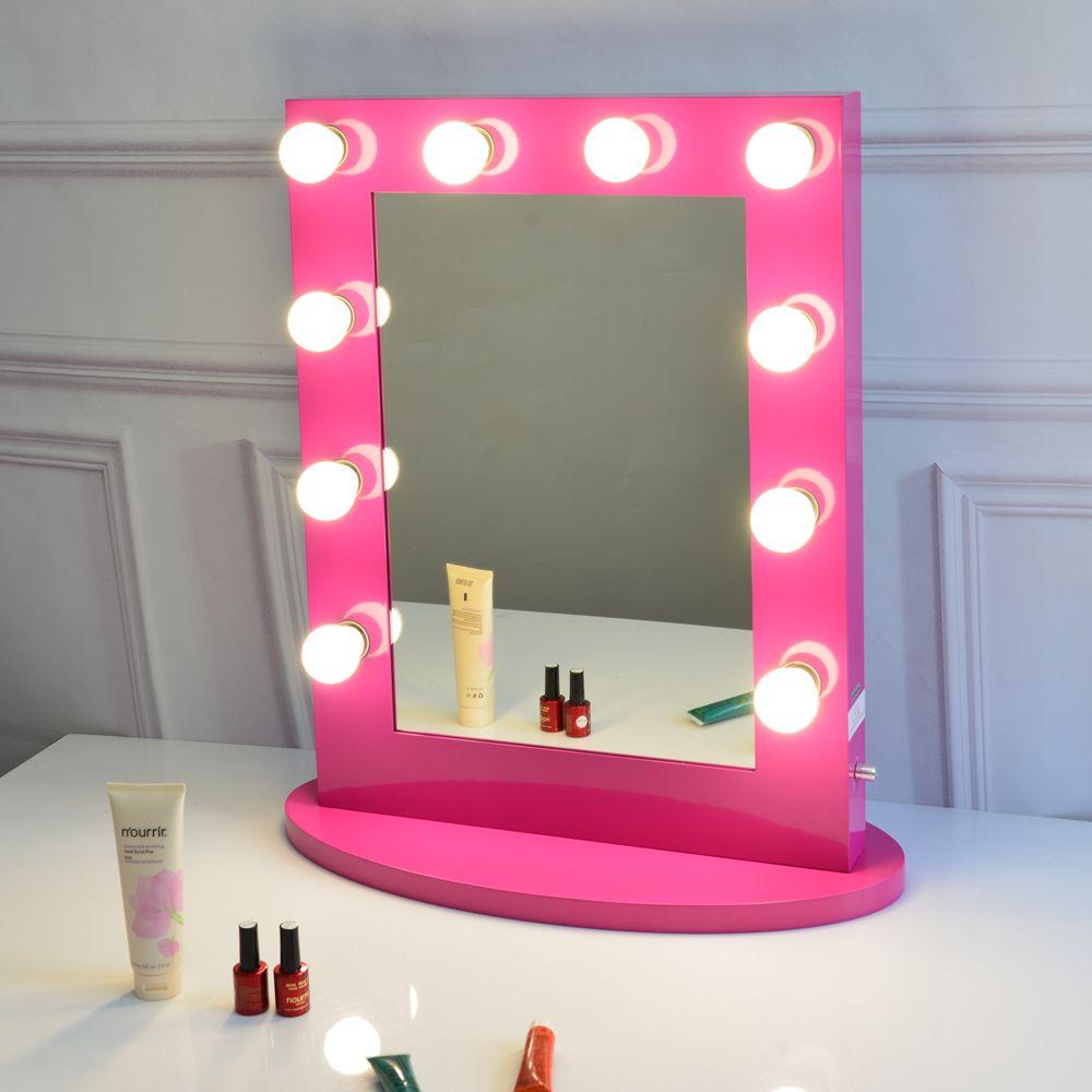 acheter miroir de vanite rouge rose avec miroir de scene de maquillage hollywoodien de 361 8 du wintochic dhgate com