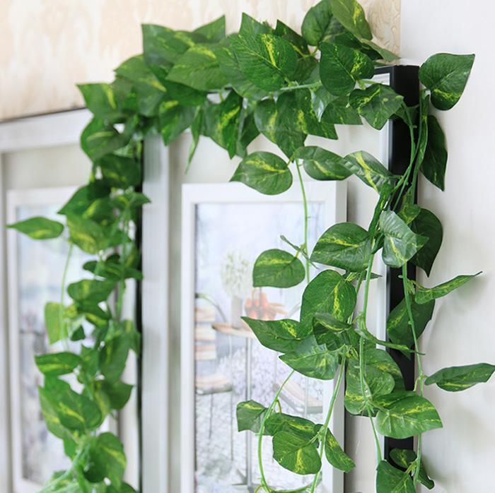 2020 Artificial Fake Decorative Vine Silk Plants Leaves ... on Vine Decor Ideas  id=48333