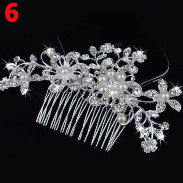 fashionwomen flower hair clip comb pin bridal wedding hair comb crystal rhinestone hair accessories