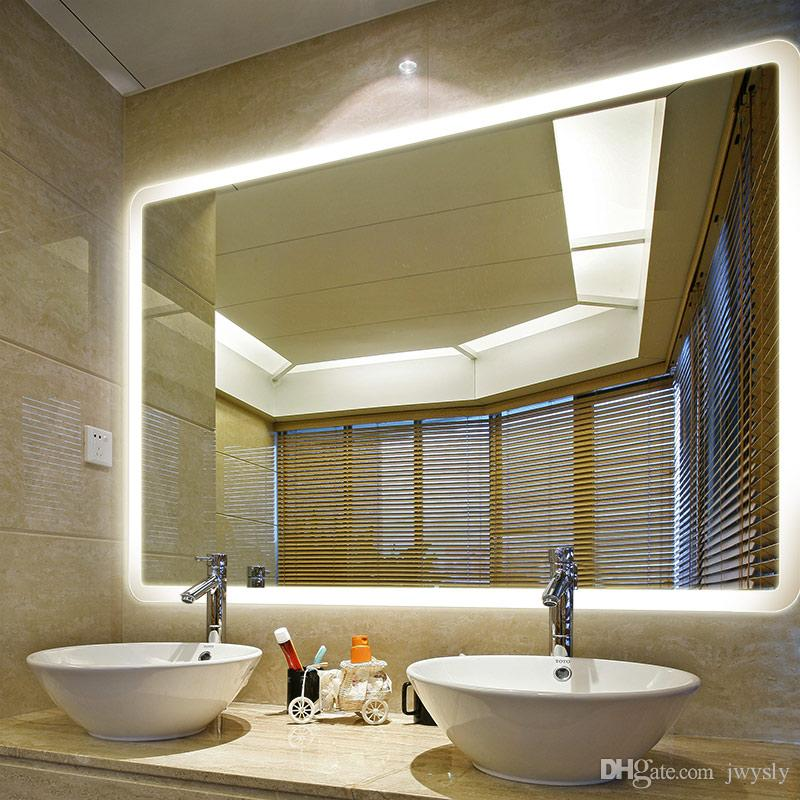 modern european style home decor bath mirror type led lighted