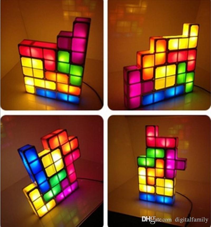 acheter tetris puzzle lampe led constructible bloc table lit petit decoratif empilable night light nouveaute magique cube cadeau de noel de 19 06 du