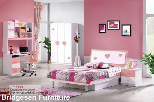 2017 Mdf Teenage Girl Kids Bedroom Furniture Set With 2 Door