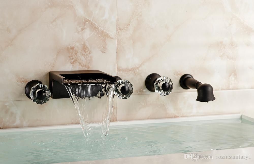 2021 wall mounted waterfall bathroom