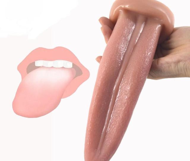 Lifelike Tongue Sex Toy Lick Anal Vagina Clitoris 20cm Flexible Soft Tongue Shape Dildo For Clitoral Masturbation Women Body Parts Woman Seeking Man From