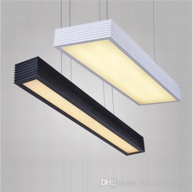 Modern Led Pendant Lights Office Study Room Rectangle Suspended     Modern Led Pendant Lights Office Study Room Rectangle Suspended Pendant  Lights Chandelier Decoration Fashion Led Pendant Light Fixtures Rectangle  Suspended