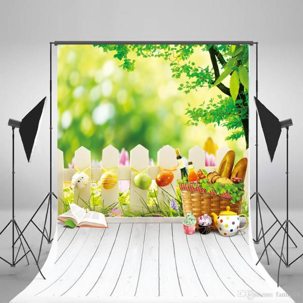 2018 Easter Photography Background Eggs Backdrop White ...