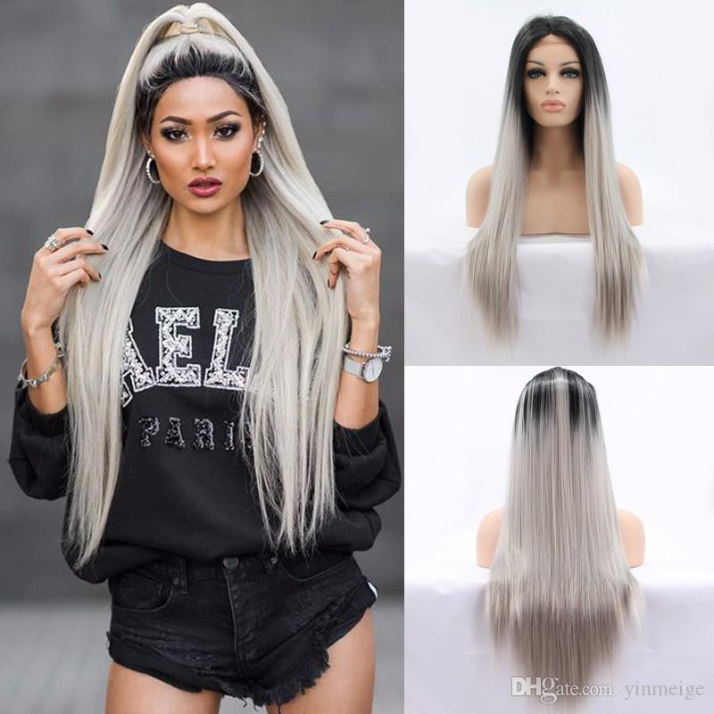 Kylie Jenner Lace Front Lace Ombre Wigs High Ponytail