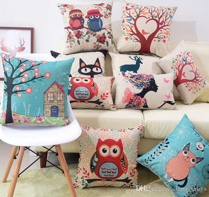 acheter canape coussin taie d oreiller ornements de lit decorations de noel l arbre du soleil m hibou couple de chouette arbre d amour