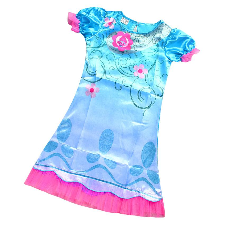 ᗜ LjഃPretty Girl Trolls Poppy Dress Size 110-150 Kids Birthday ...