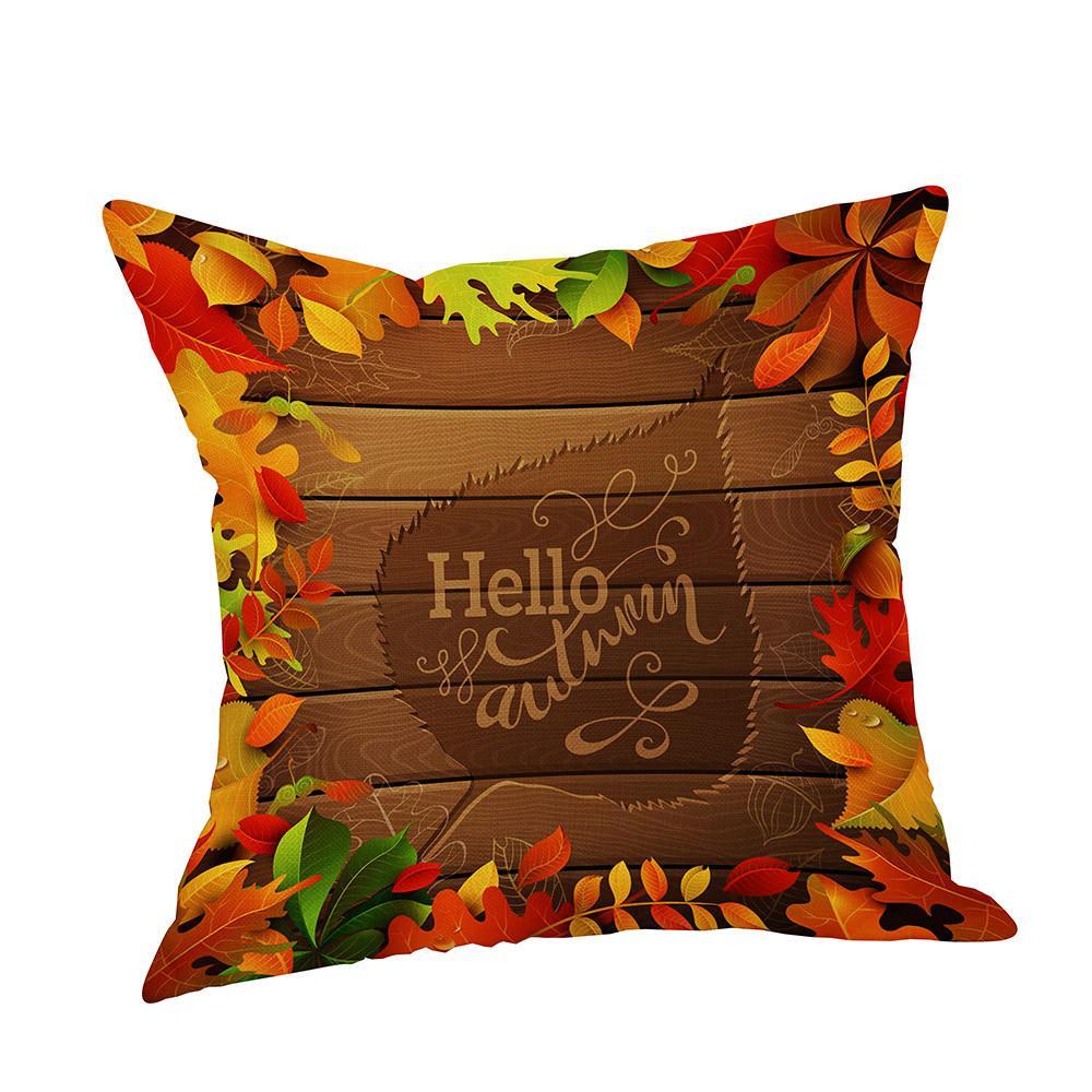 acheter heureux automne thanksgiving jour polyester coussin decoratif linge taie d oreiller de dinde couverture de lit doublures de lit cadeau pour un ami