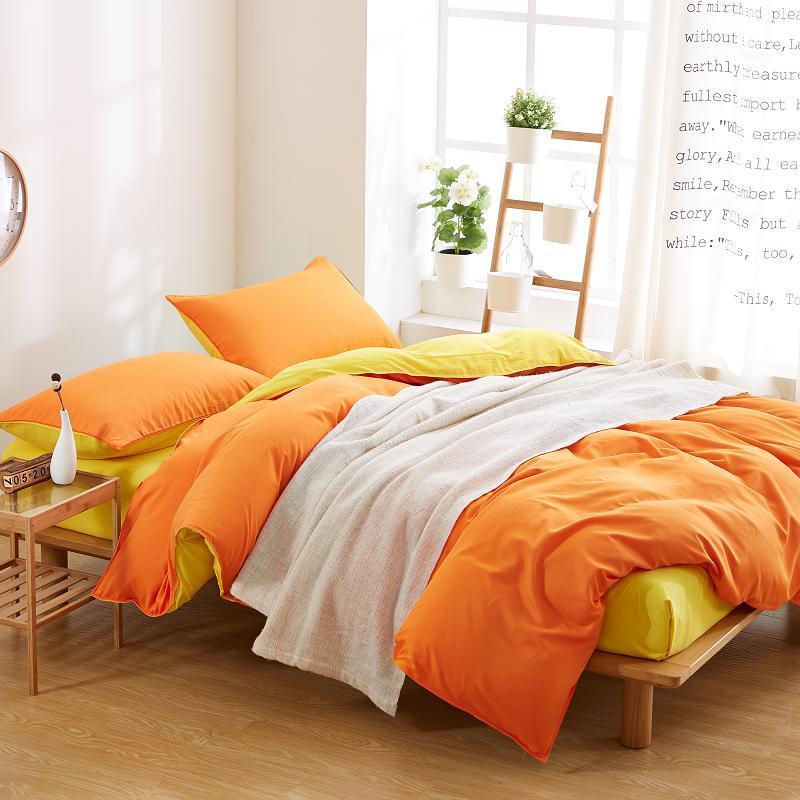 acheter maison textile solide literie ensemble avec housse de couette draps taie d oreiller de luxe coton literie linge de lit king queen twin taille de