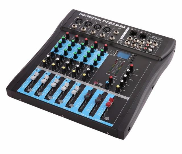 Ct6 6 Channel Professional Stereo Mixer Live Audio Sound Console Vocal Effect Processor With 4 Ch Mono 2 Ch Stereo Input Karaoke Download Songs Karaoke