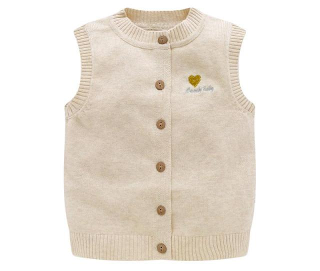 Casual Knit Baby Sweater Vest O Neck Cotton Toddler Vest Fashion Baby Boys Girls Clothes Spring Autumn  Y Boys Clothing Free Toddler Sweater Knitting
