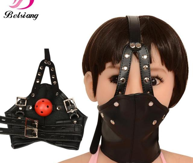 Bdsm Mask Leather Bondage Restraints Body Hood Harness Mouth Gag Sexy Bondage Gear Slave Fetish Erotic Toys Sex Toys For Women S1029 Free Game Online Free