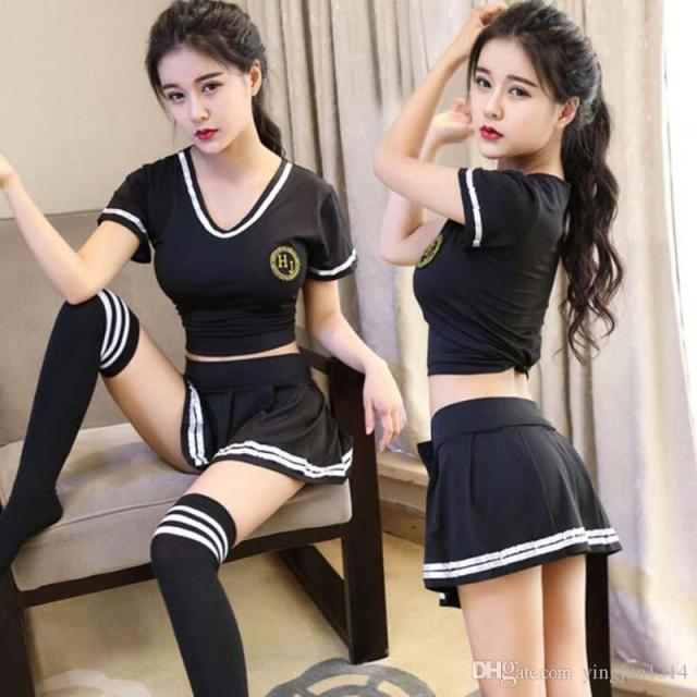Wholesale Hot Sexy High School Colleage Girls Uniform Party Outfits Cheerleader Costume Sexy Costumes Lingerie Gallery Petite Lingerie From Yingjun1314