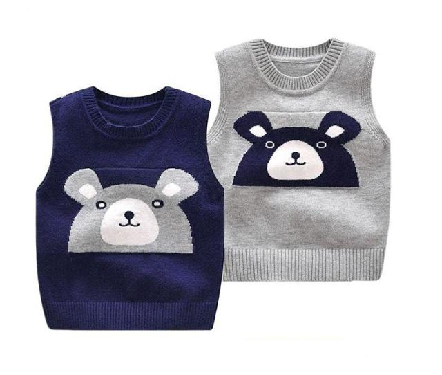 Baby Boy Vest Spring And Autumn Children Boys Soft Sweater Vests  Cotton New Born Male Infant Baby Knit Puppy Figureclothing Baby Girl Sweater Patterns