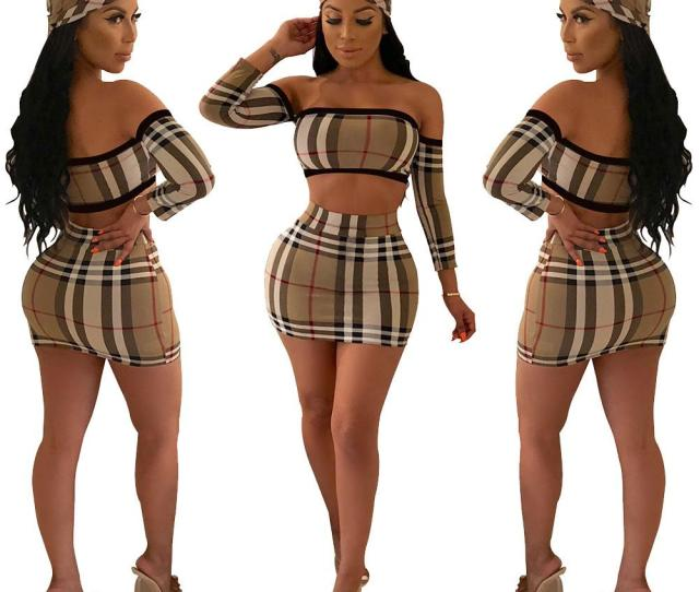 2019 A8280 Suit Dress 18 New Product Classic Lattice Sexy Tube Top Half Body Skirt Suit Contain Scarf From Kaiyi Dhgate Com