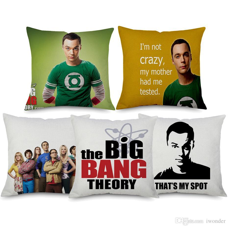 acheter le big bang theory coussin couvre 6 styles sheldon portrait taie d oreiller en lin beige taie d oreiller chambre canape decoration de 2 92 du
